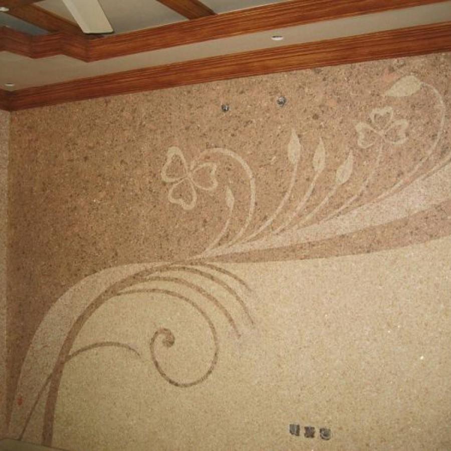 Стоимость работы нанесения жидких обоев на стену
