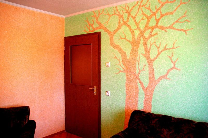 Рисунок на стене своими руками фото