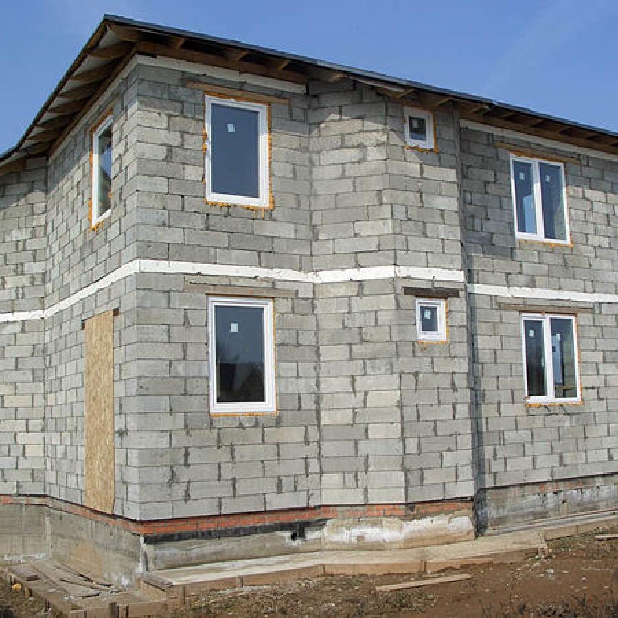 как выглядит дом из пеноблоков