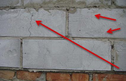 На стенах из пеноблока со временем могут появиться трещины, по причине поглощения влаги. Поэтому нужна защита облицовкой.