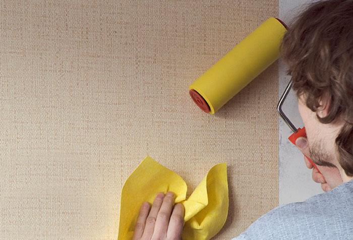 Поклейка обоев виниловых на бумажной основе